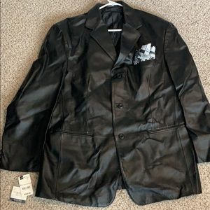 Men's Leather Stafford Jacket Size L NWT